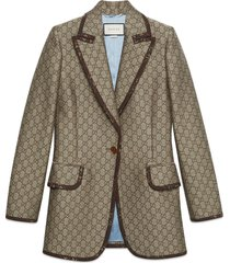 gucci gg wool canvas jacket - neutrals
