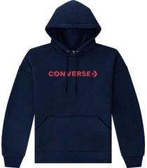 converse sudadera con capucha embroidered wordmark blue