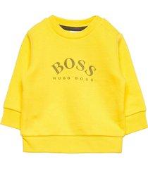 sweatshirt sweat-shirt trui geel boss
