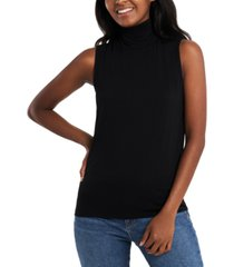 riley & rae harper solid turtleneck top, created for macy's