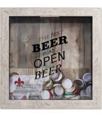 "lawrence frames weathered birch shadow box beer cap holder - 10"" x 10"""
