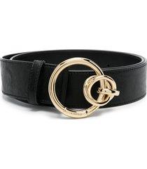 pinko double-ring buckle belt - black