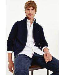tommy hilfiger men's cotton cashmere zip cardigan desert sky - xxl