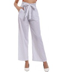 pantalón rayas ancho blanco nicopoly