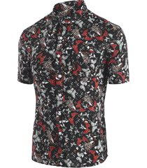 allover butterfly ditsy print beach shirt