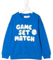 mini rodini game set match print sweatshirt - blue