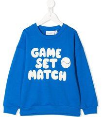 mini rodini game set match print sweatshirt - blue