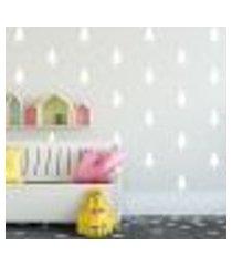 adesivo decorativo de parede - kit com 40 pinheiros - 014kaa06