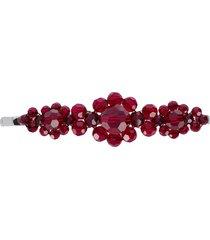simone rocha beaded hair clip - red