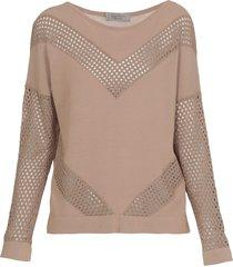 d.exterior iridescent net sweater