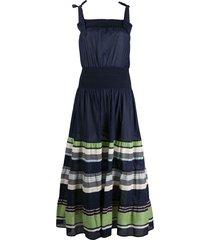 tory burch paneled cinched dress - blue