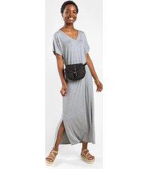 amil knit maxi dress - heather gray