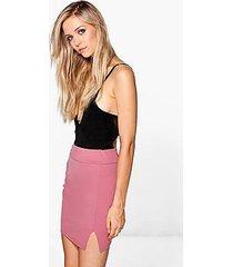 samarah scuba split highwaist mini skirt