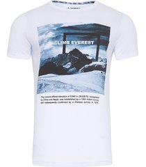 camiseta masculina climb everest - branco