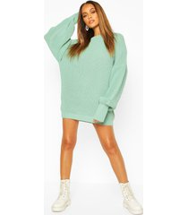 oversized knitted dress, sage