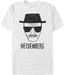 fifth sun men's heisenberg head shot sketch short sleeve t- shirt