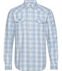 ls western shirt overhemd casual blauw wrangler