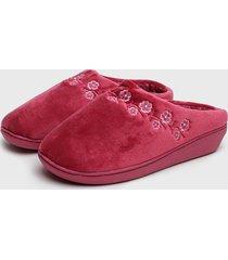 pantufla slipper clásica burdeo lady genny