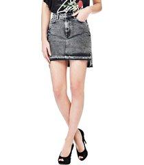 dżinsowa spódnica z aplikacjami
