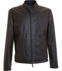 jacket croco print