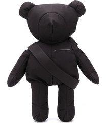 mm6 maison margiela teddy crossbody bag - black