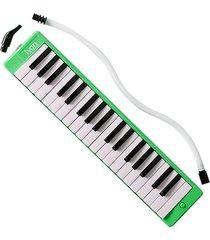 melodica con estuche lyon france qm-37a verde 37 teclas