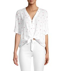 thea watermelon-print knotted top