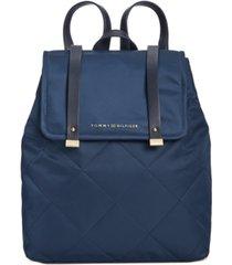 tommy hilfiger amelia nylon flap backpack