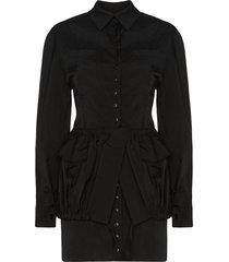 jacquemus la cueillette shirt dress - black