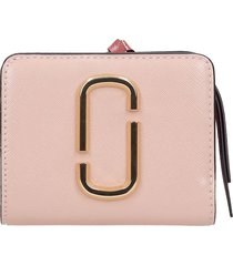 marc jacobs wallet in rose-pink leather