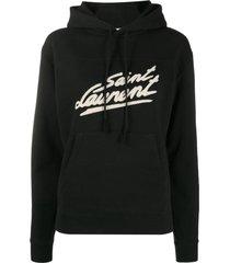 saint laurent fifties signature print hoodie