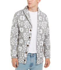 levi's men's patterned shawl collar sweater