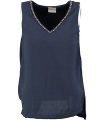 vero moda stevige blauwe party top polyester