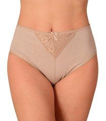 calcinha vip lingerie cintura alta bege