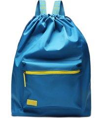 mochila azul nylon | fiever