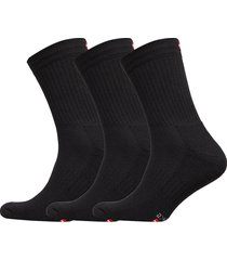 tennis performance crew socks 3 pack underwear socks regular socks svart danish endurance