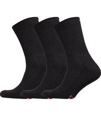tennis performance crew socks 3 pack underwear socks regular socks svart danish endurance