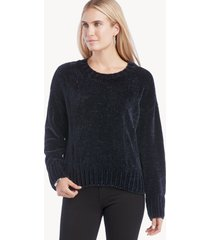 sanctuary women's chenille mock neck sweater in color: chakra blue size xs from sole society