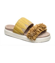 slipper raffia fringes shoes summer shoes flat sandals gul inuikii