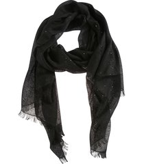 brunello cucinelli fringed edge sequined scarf
