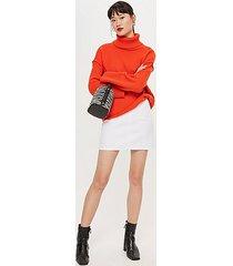 tall pocket a-line skirt - white