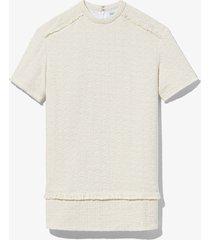 proenza schouler white label bouclé tweed dress white 2