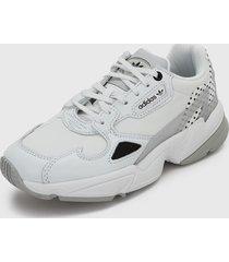 tenis lifestyle blanco-negro adidas originals falcon