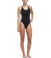 adidas women's 3-stripe sleeveless bodysuit