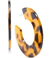 "zenzii medium acetate open medium hoop earrings 2"""