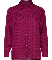 laicras shirt overhemd met lange mouwen paars cras