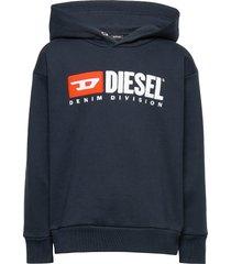 sdivision over sweat-shirt hoodie trui blauw diesel