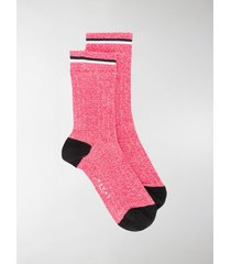marni logo ribbed ankle socks
