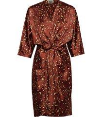 georgina dress mini knälång klänning röd twist & tango