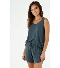 pijama para mujer tennis, pijamas conjunto entero azul